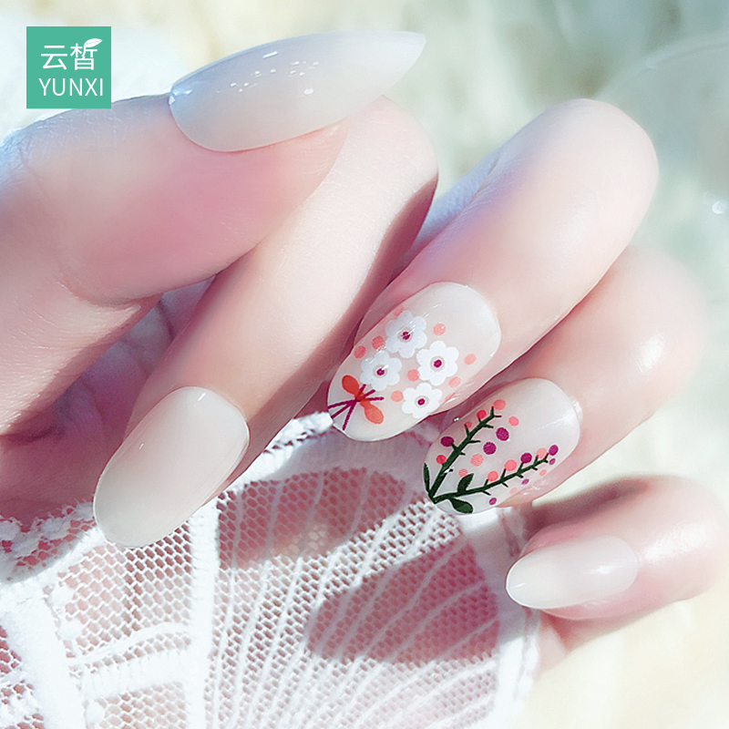 Nail patch nail sticker waterproof durable nail sticker full stickers Korea 3d nail finished wearable disassembly