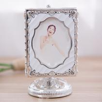 Rotating music box flush photo custom 5 inch photo wedding gift send people silver table swing strip studio