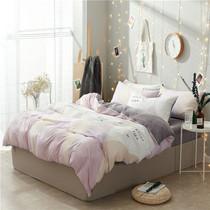 Стиральная хлопок из четырех частей набор летом постельное белье Пододеяльник 1 5 м постельное белье Односпальная кровать в студенческом общежитии из трех частей набор кровати