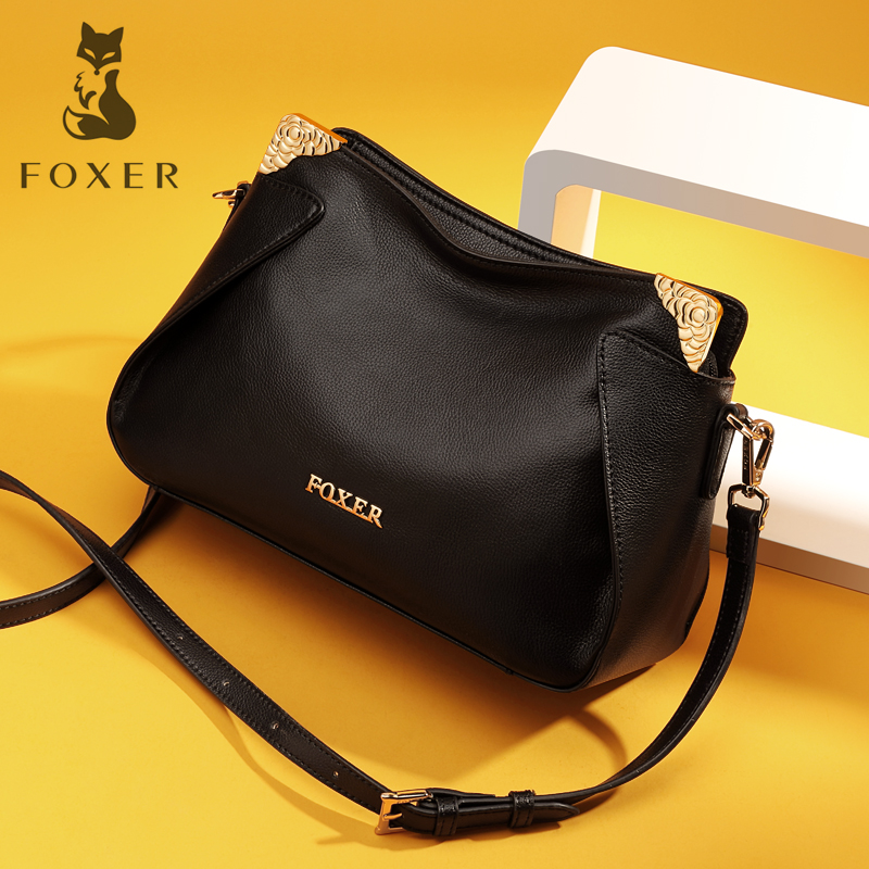 Golden Fox Lady Leather Bag Female 2018 New Genuine Casual Soft Leather Shoulder Bag European and American Fashion Messenger Bag
