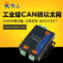 Someone industrial-grade serial server can Ethernet RS485 transfer USR-CANET200