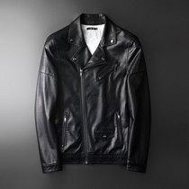 Кожаная мужская тонкая корейская версия красивый весенний молодежный тренд косая молния лацкан локомотивная Одежда мужская кожаная куртка