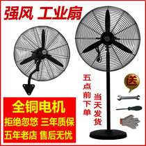 Industrial electric fan high power mechanical head factory strong wall hanging floor fan large wind commercial Horn fan