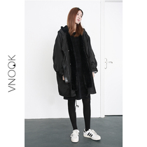 VNOOK long in the new autumn and winter plus wool hooded coat with removable loose overcoats padded coats women