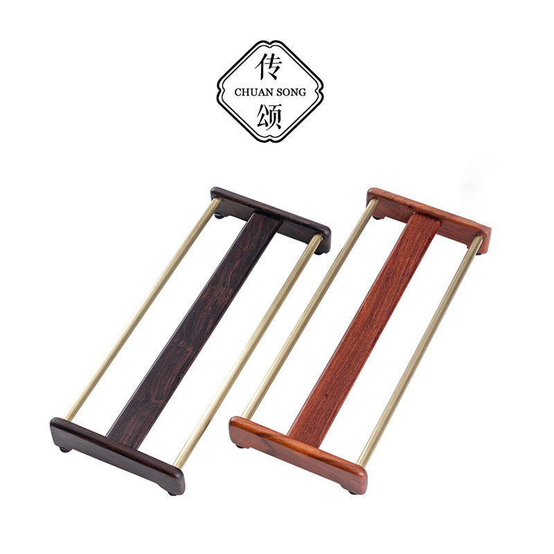 Ebony solid wood tea set copper collection rack teacry shelf drying cup rack copper teacry rack accessories