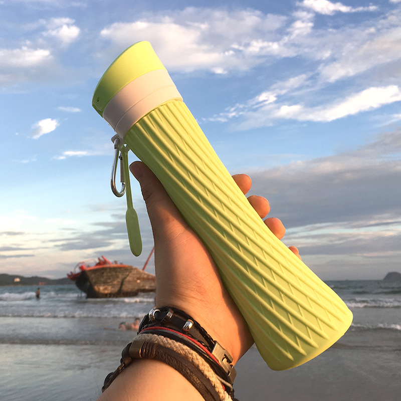 Spread silicone foldable water cup creative outdoor sports teacout cup office car outdoor portable kettle