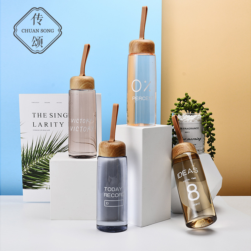 Celebrating the creative trend plastic cup students hand-carrying fashion personality casual water cup mens and womens water bottles