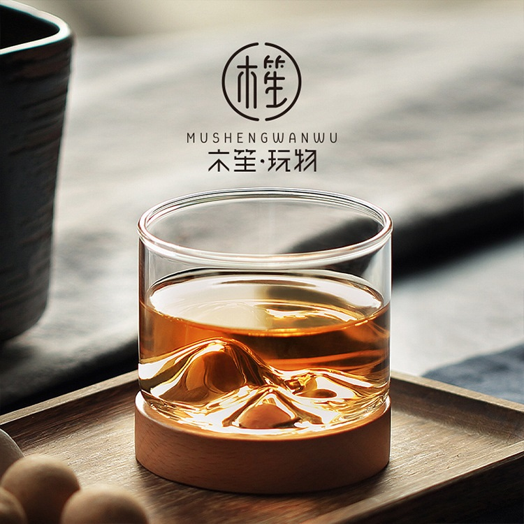 Praise transparent glass teacum home Japanese-style single tasting cup personality tea set mountain cup heat-resistant small cup