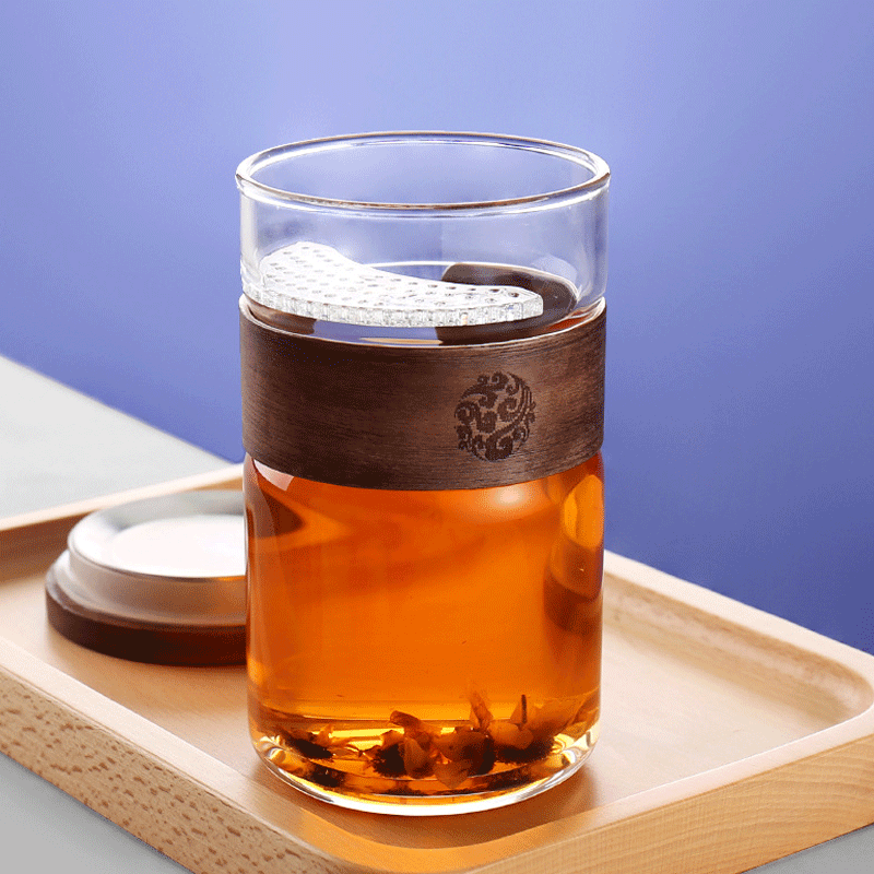 Tribute to the creative filter glass with cover tea separated bubble tea cup home with water cup office tea cup
