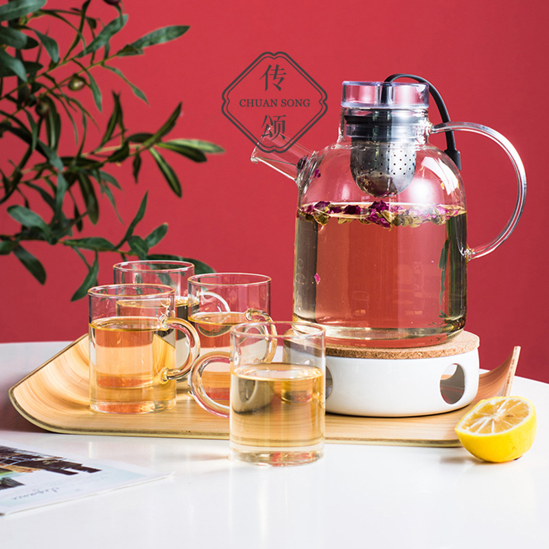 Ode to the tea kettle with filtered heated flower teapot cup Nordic heat-resistant glass tea set