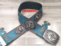 Minority Mongolian chic Leather belt mens clothing accessories hollowed antique Head Belt Sale