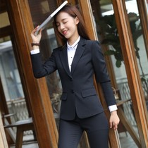 Occupation suit women autumn and Winter new style suits formal college students interview Work Clothes small suit tooling