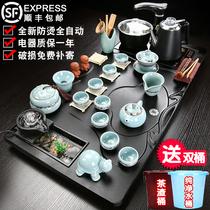 Чай набор домой один кунг-фу чайная тарелка простой всей гостиной полностью автоматической керамической чайной церемонии фиолетовый песок