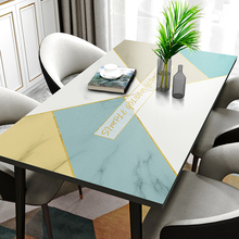 Leather tablecloth Nordic style modern luxury household waterproof, oil proof, scald free tea table mat PVC table mat
