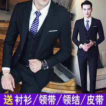 Summer men slim Korean casual suit suit