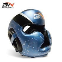 BN Boxing helmet adult Sanda Head Thai boxing fighting protective gear hooded match taekwondo head super Fiber skin