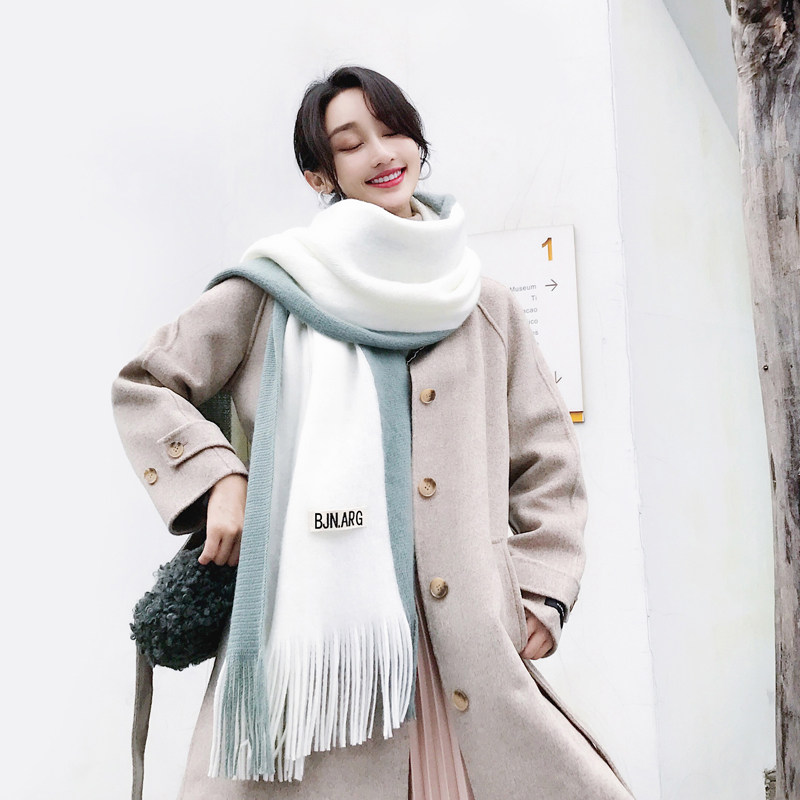 Scarf womens winter net red hundred hair line Korean version of spring and autumn fashion cotton shawl scarf two-use warm neck