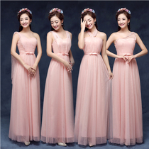 2016 new long section was thin dress bridesmaid group long section sisters skirt bridesmaid dress graduation dress dress chaired clothing
