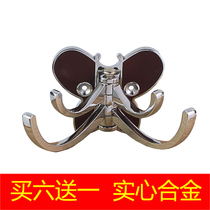 Butterfly hook coat hat single hook door after toilet activity hook shoe cabinet wall hanging bedroom door wardrobe side