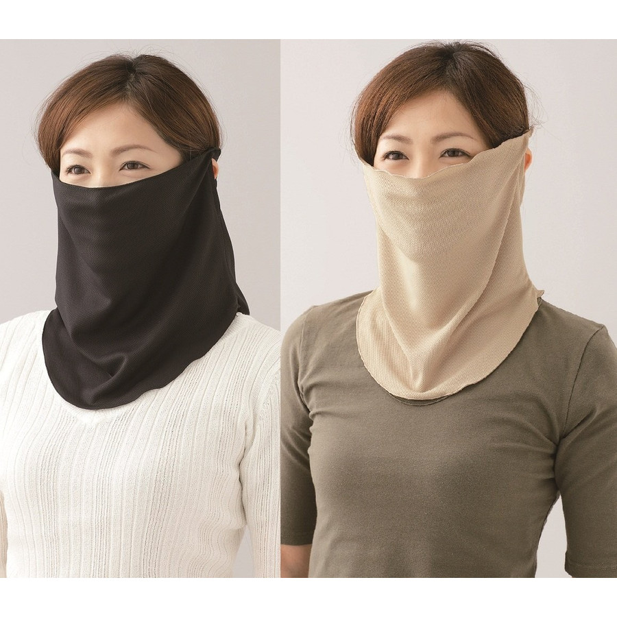 Japans original outdoor breathable air-cooled neck guard neck cover anti-UV anti-UV sunscreen ms. sun mask