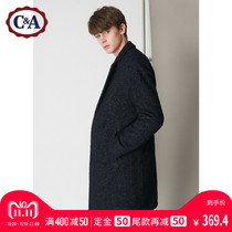 C&A mens warm mid-length cotton jacket winter new liner thickened woolen coat CA200210730