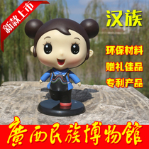 Guangxi characteristic National Craft Doll Han doll home decoration travel Gift Jiapin Product
