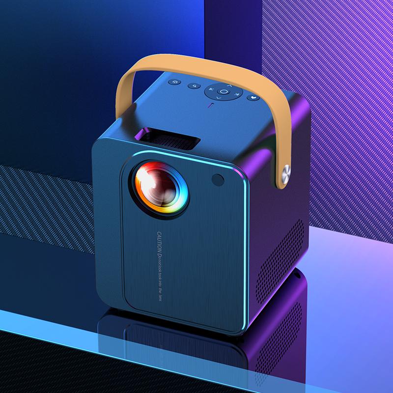 2021 nouveau projecteur de téléphone mobile à la maison Ultra HD 4K intelligent tout-en-un sans fil mini mini micro-petit projecteur portable home cinéma étudiant dortoir mur de chambre à coucher coulé 5G laser TV