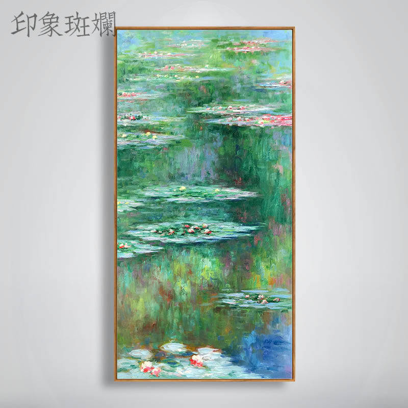 Impressive Monet Impressionist Painting Waterlily Modern Jane Euro-American Landscape Vertical Version Portal Hand-painted Oil Painting