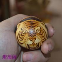 Natural egg hand twist small gourd Wen play hand plate hand painting boutique decoration collection Tiger head lion head