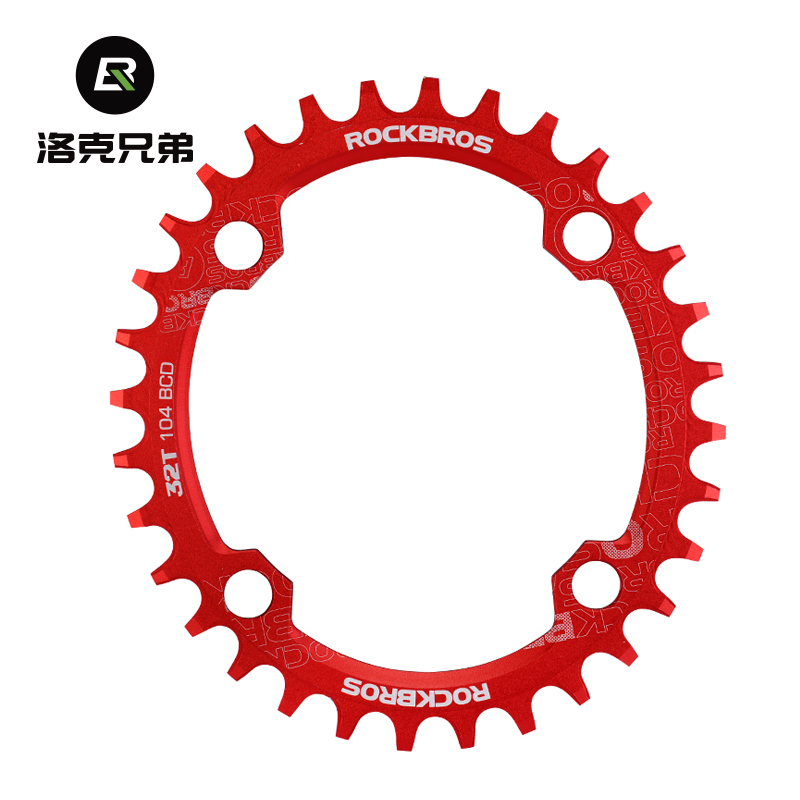 ROCKBROS Mountain Bike Positive and Negative Tooth Disc/Elliptic Tooth Disc 104BCD Single Speed 3234 36T Accessories