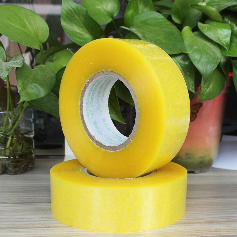 Transparent yellow tape sealing box tape express packaging sealing tape bandwidth tape packaging tape strip