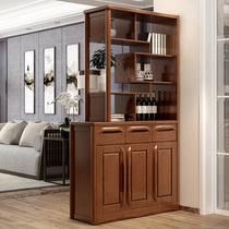 Китайский цельный деревянный шкаф для гостиной перегородки шкаф небольшой семейный вход шкаф двухсторонний винный шкаф для обуви комбинированный шкаф экрана