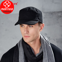 Carmon mens cap 2020 autumn new British solid cotton flat top military cap sports cap casual hat KM-2528