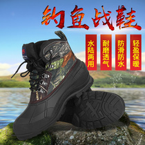 New outdoor waterproof fishing shoes anti-skid snow boots thickened men autumn and winter warm shoes Angeles fishing shoes ice fishing shoes