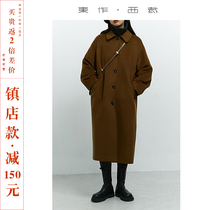The town store is now reduced by 150 yuan high-end wool coat womens cashmere medium and long small wool coat
