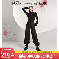 (Flower Magnolia joint name) black pants female Xia Chinese 蔔 pants loose and thin 2020 new style trend
