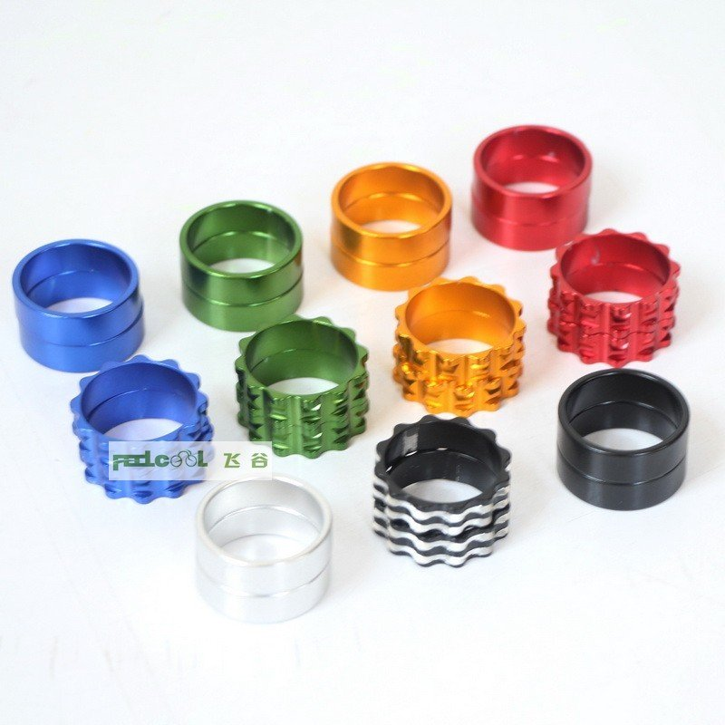 Aluminum alloy coloured cylinder/solid/wire drawing front fork fittings for highway bicycle