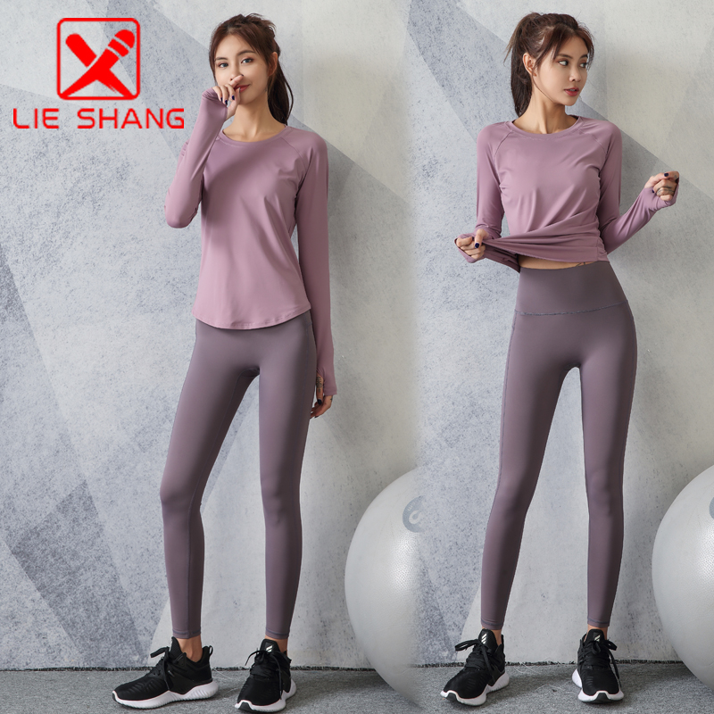 Yoga clothes womens autumn and winter style quick dry clothes professional net red gym high-end fashion running fitness suit