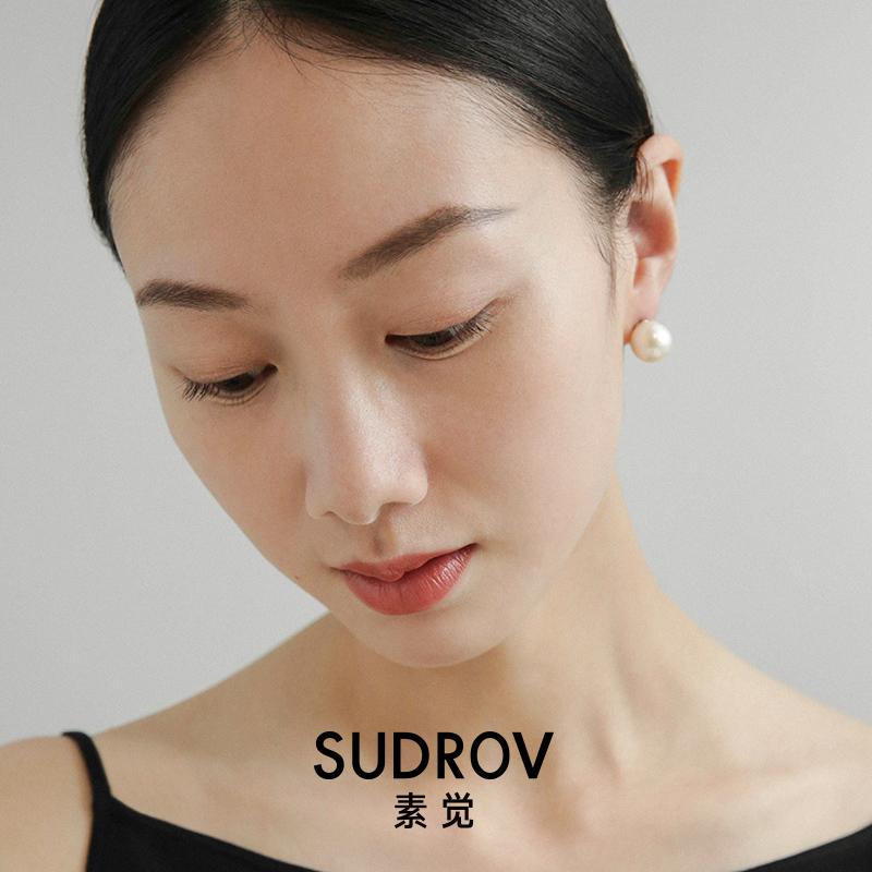 Vegetarian pure silver fresh water near the round Edison large pearl earrings simple temperament earrings famous Port Hong Kong earrings