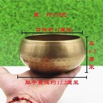 Nepals hand-made brass-printed Buddha-鉢 converted through the bowl of copper-toned caliber 11 meters of dense patrithal