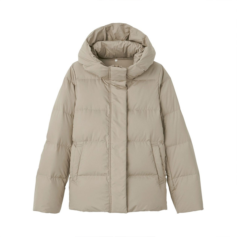 Unprinted MUJI womens down not easy to get water ventilated ball jacket