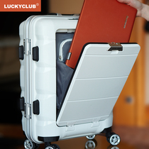 Lucky Club suitcase men's aluminum frame business women's universal wheel 20 inch 24 boarding computer trolley travel box