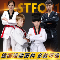 Pure cotton taekwondo clothing childrens training clothing for adult adult college students men and women long-sleeved short-sleeved tracksuit custom