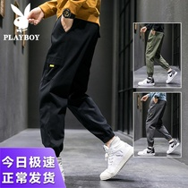 Playboy pants men spring and autumn season ins Korean version of the trend of the tide of brand clothing foot men casual pants men