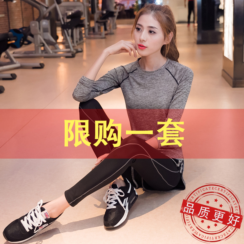 Yoga clothing autumn and winter sports kit womens gym professional high-end fashion running fitness quick dry net red long version