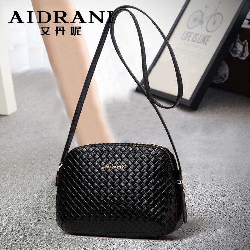 Aidani 2018 autumn new leather handbags bag tide simple leather bag ladies shoulder Messenger bag female