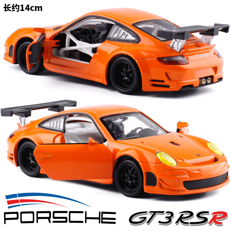 Colorer 1:32 Porsche Porsche Porsche GTSR RSR car model toy acoustic light back