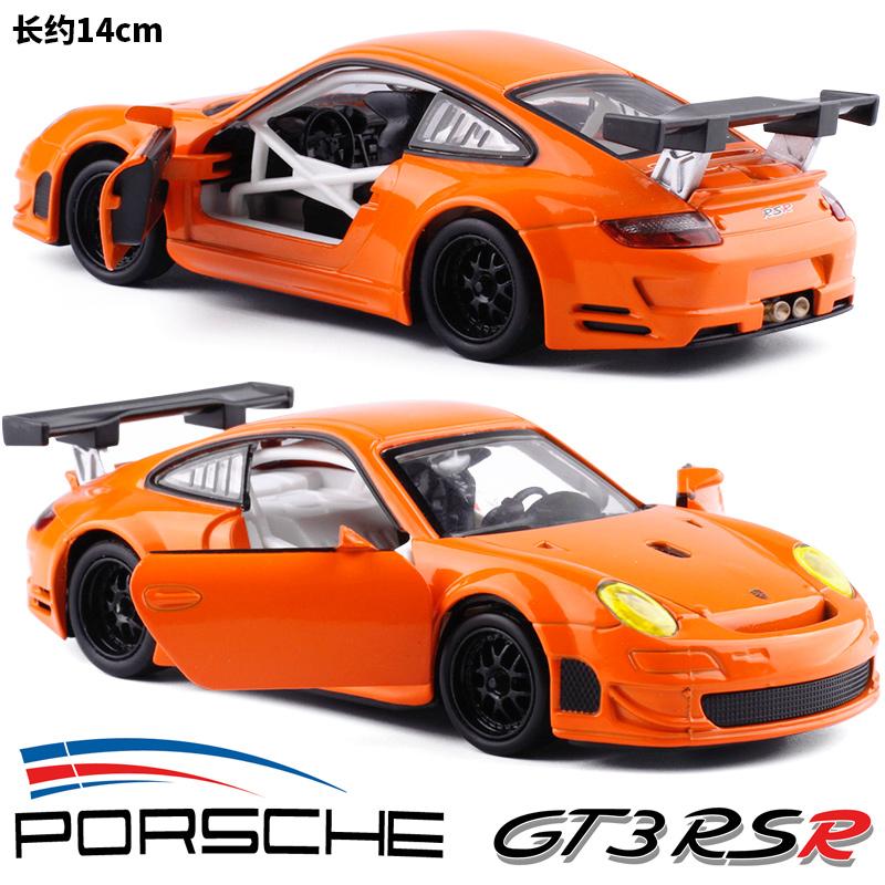 Colorer 1:32 Porsche Porsche Porsche GTSR RSR car model toy acoustic light back
