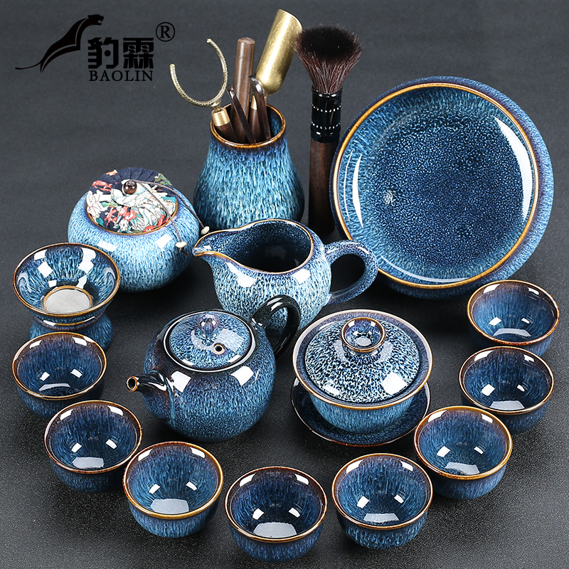 High-grade Jiandang teacuff set of ceramic kung fu tea set set of household workers are porcelain rass office guests