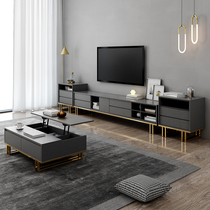 Light Luxury TV cabinet coffee table combination set Nordic modern simple living room small simple creative home Cabinet